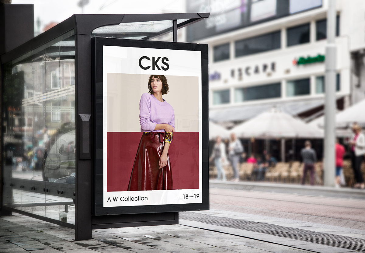 Bus Stop Billboard Mock Up
